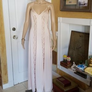 Gorgeous Vintage Lace Paneled Nightgown